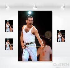 Freddie Mercury - 11 - Quadro stampa su Tela Pelle Canvas Dipinto Arte Moderna