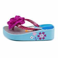 Disney Store Frozen Anna and Elsa Platform Flip Flop With Flower Size 9/10