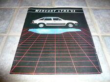 1983 Mercury Lynx Sales Brochure - Vintage