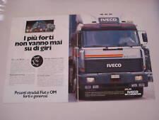 advertising Pubblicità 1985 IVECO TURBOSTAR