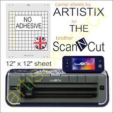 Scan N Cut Artistix Plain Non Adhesive Cutting Mat Carrier Sheet 12 x 12 Brother