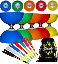 CYCLONE CLASSIC Triple Ball Bearing Diabolo Set + Fibre Diablo Hand Sticks + Bag