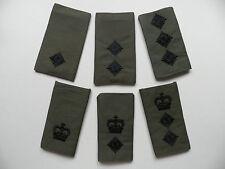 Royal Marines / Army rank epaulette slides [pair] Officer ranks, new,  unissued.
