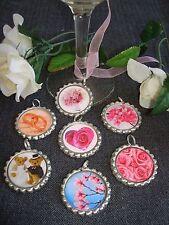 25 Wedding Favor Decor Bottle Caps Split Ring Bling Gift Roses Bears Heart Bride