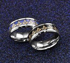 Freemasonry Free Mason AG Masonic Ring Faith Titanium Steel Ring