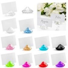 Tischkartenhalter Diamant Tisch-kärtchen Hochzeits Dekoration edel stilvoll neu