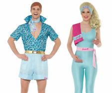 Barbie And Ken Doll Adults Licensed Fancy Dress Costume Barbie + Wig