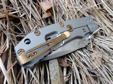 Custom Titanium Standoffs Scale Screws LBS Pocket Clip for ZT0550(2nd gen) Knife