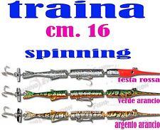 AGUGLIA CM 16  ESCA ARTIFICIALE PESCA TRAINA SPIGOLA DENTICE SPINNING SPIGOLA