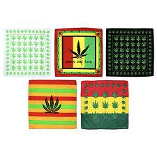 Marijuana Weed Leaf Stoner 100% Cotton Bandana Scarf Head Neck Tie