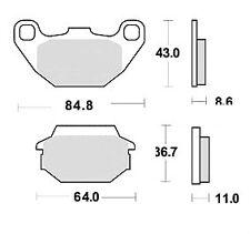 Plaquette Frein KYMCO AGILITY 50 125 150 R16/LIKE 50 125/MXER MXU 50 150