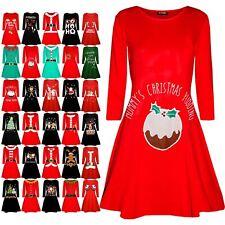 Femme Femmes Noël Santa maternité de Noël Renne longues chemises elfe robe Swing