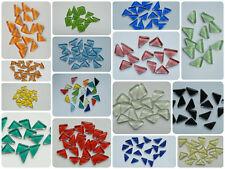 200g Mosaik Dreiecke Soft Glas Mosaik Glasmosaik Dreieck versch. Farben