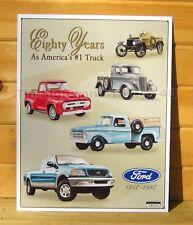 Ford Trucks 80 #1 TIN SIGN metal wall decor garage vtg antique 1917-1997 ad 712