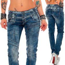 Cipo & Baxx Sexy Damen Jeans Dirty Style Hose Stretch Skinny Röhre Hüftjeans