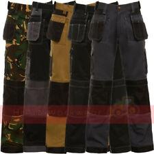 Pantalón para hombre trabajo Multi & Bolsillos de almohadilla para la rodilla comercio Pro Triple Costura Workwear