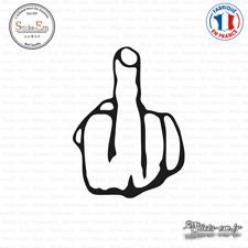 Sticker Doigt d'Honneur Decal Aufkleber Pegatinas D-296 Couleurs au choix