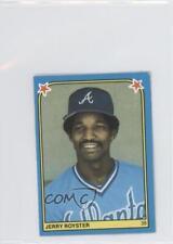 1983 Fleer Baseball Album Stickers Separated #92 Jerry Royster Atlanta Braves