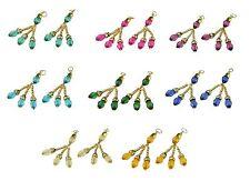 Assorted Colour Crystal and Gold Saree Blouse Duppata Lehenga Latkan Tassel