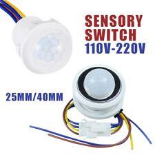 110/220V PIR Infrared Body Motion Sensor Control Switch Automatic Light 25/40MM