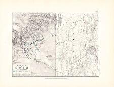Carte/plan de bataille ~ bataille de chaume 29th août 1813 ~ saxe prusse