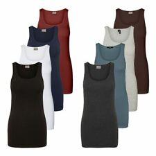 Vero Moda Damen Tank Top Lang Shirt Stretch Basic Longtop Damenshirt Ärmellos