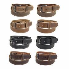 "GM145_Buffalo Leather Belt 1 1/2"" wide_Stitched_Gun Metal Buckle_Amish Handmade"