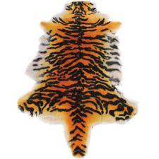 100% Sheepskin Rug Tiger Chair Pad Fur Sofa Throw Lambskin Hide Pelt Hair Carpet