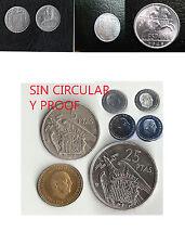 1945 error 1953  centimos 1 peseta 5 pesetas  25 PTAS  FRANCO sin circular proof