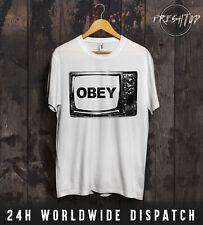 Obey TV Television T Shirt NWO Shepard Fairey Illuminati Mind Control