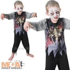 Zombie Boy Kids Halloween Fancy Dress Walking Dead Horror Childrens Costume New
