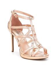 Michael Michael Kors Womens Sandra Platform Leather Open Toe Special Occasion...