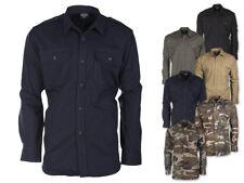 Mil-Tec Feldhemd Hemd Ripstop Baumwollhemd Tropenhemd Safari Herrenhemd XS-3XL