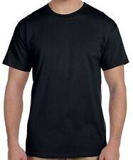 Black T Shirt, Blank, Solid, Mens, Unisex, Crew Neck, Tee, Cotton, Small - 5X