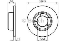 BOSCH Bremssatz 2 Bremsscheiben Vorne 298mm Für LAND ROVER RANGE 0 986 478 827