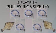 SHORE FISHING 5 X FLATFISH PULLEY RIGS SIZE 1/0