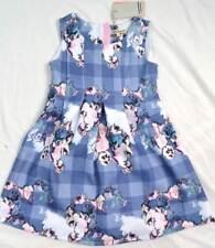 Angel & Rocket designer girls summer blue scuba dress rrp £40 age 3 - 10 years
