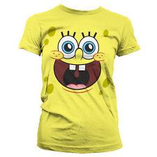 Officially Licensed Sponge Bob- Sponge Happy Face Women T-Shirt S-XXL Sizes