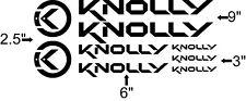 Custom Knolly Bike Frame Decal Set. Pick Your Color. USA Seller!