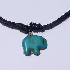 Handmade Elephant Charm Howlite Necklace Fair Trade