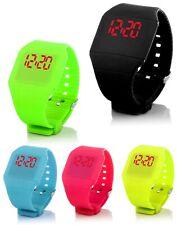 SILICONE Digitale LED Orologio da polso orologio da polso Watch Bambini Unisex Sport Fitness