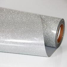 Premium Silver Glitter Heat Transfer Vinyl - HTV - Iron On for T Shirt Making