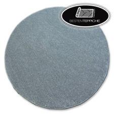 Rund Langlebig Modern Teppichboden UTOPIA grau große Größen! Teppiche nach Maß
