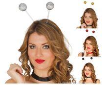 80s Fancy Dress Accessory Glitter Head Deeley Boppers Bobber Spring Deely Gold