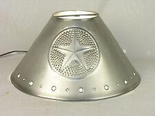 Lamp Shade, Rustic Tin, Star Design, Patina Finish, Empire, Many Sizes