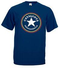 T-shirt Maglietta J2305 Catalunya Indipendecia Star Catalogna Indipendenza
