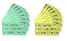 Pack de 125 cartón lotto rejillas en el apoyo hoja 80g verde o amarillo 110147