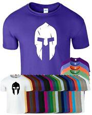 Spartan Helmet Mens T-Shirt Training Workout Bodybuilding Gym Fitness Top Tshirt