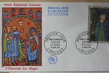 ENVELOPPE PREMIER JOUR 1964 EMAIL CHAMPLEVE LIMOUSIN