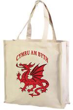 Welsh Cymru Drago, Cotone Shopping Bag, Scelta di Colori